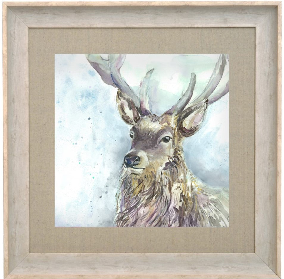 Wallace Stag Picture Voyage Maison Art Birch Frame