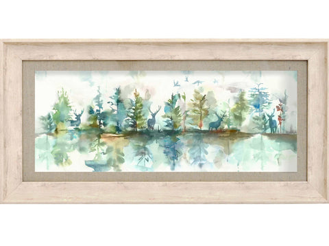 Wilderness Topaz Woodland Stag Picture Voyage Maison Art