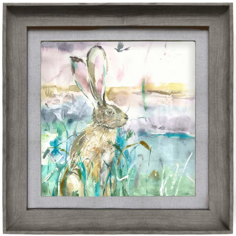 Morning Hare Picture Voyage Maison Art Stone Frame