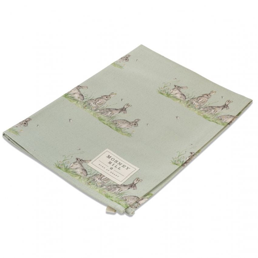 Edgar Green Hare Rabbit Tea Towel