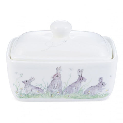 Edgar Green Hare Rabbit Butter Dish