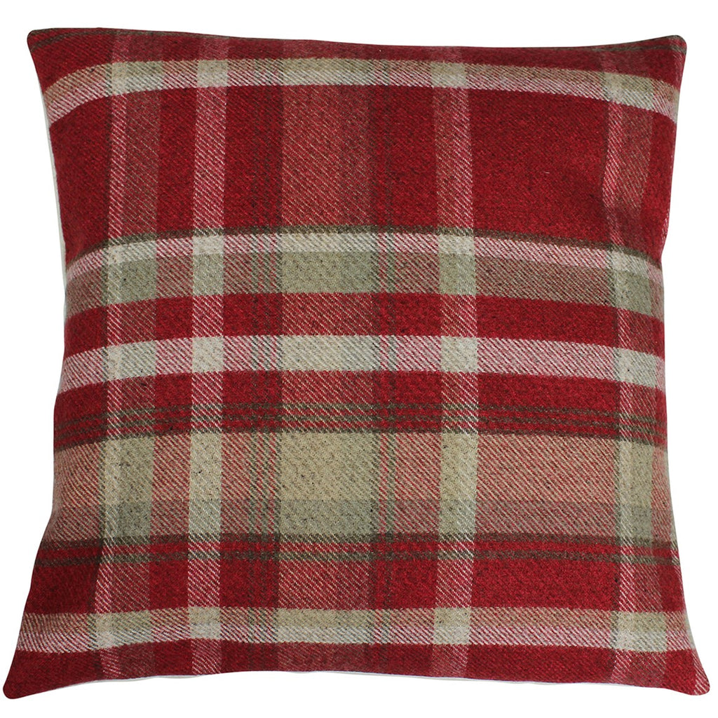 Red Elgin Checked Cushion Cover