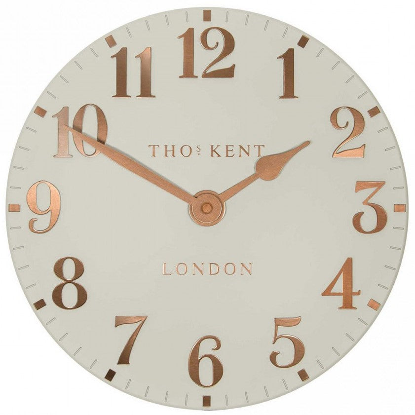 "Thomas Kent 12"" Arabic Flint Grey Wall Clock"