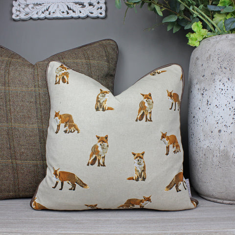 Fox & Fox Cub Cushion