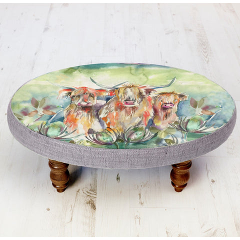 Highland Cow Heilan Herd Ceris Stool Voyage Maison Footstool