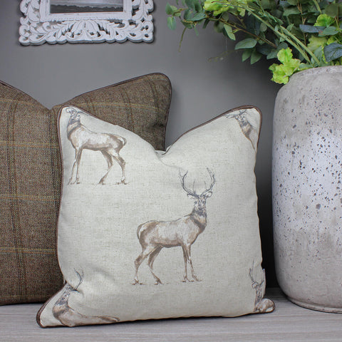 Glencoe Stag Country Animal Cushion