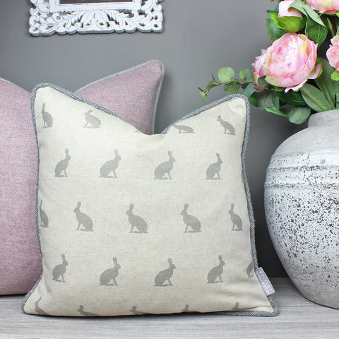 Grey Hare Cushion