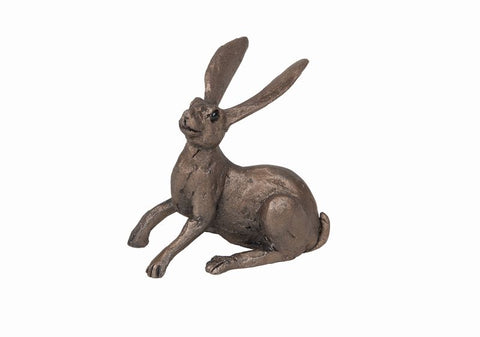 Joe Crouching Hare Frith Bronze Sculpture