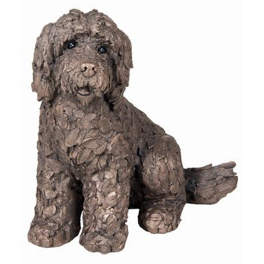 Lucy Sitting Cockapoo Frith Bronze Sculpture