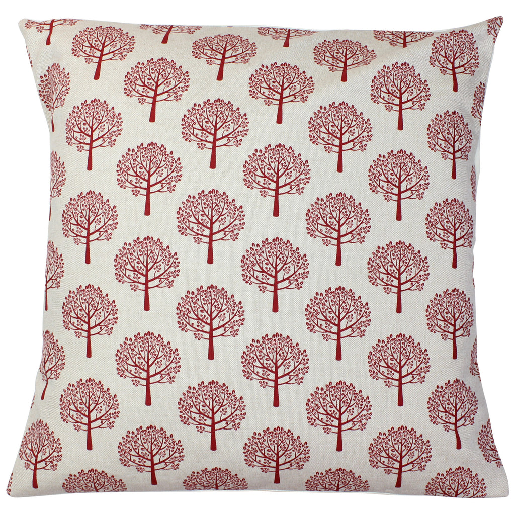 Red Mulberry Tree Cushion Cover