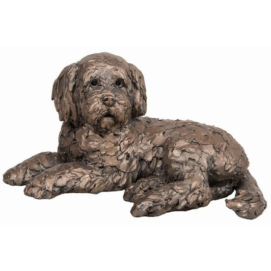 Ozzy Lying Cockapoo Frith Bronze Sculpture