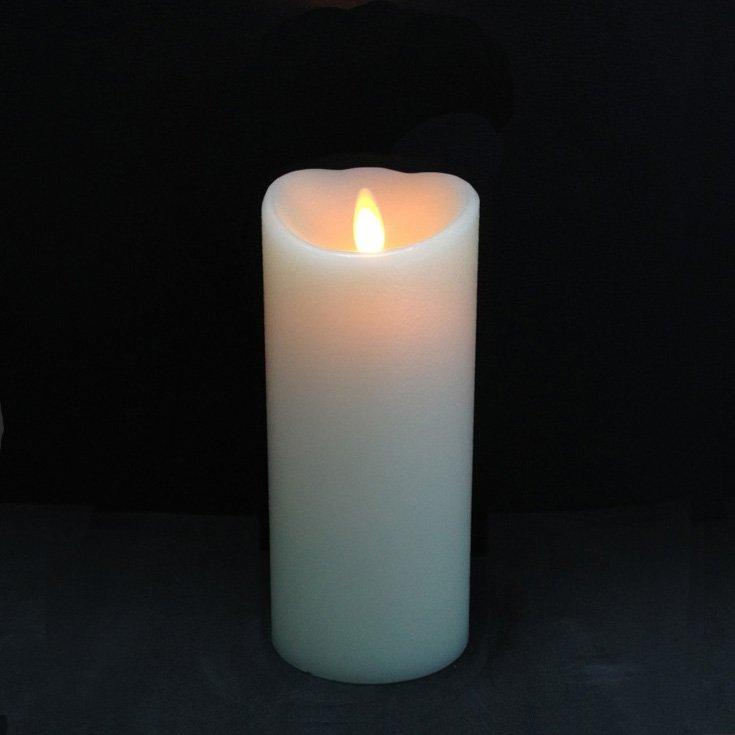 Ivory Pillar LED Candle 7""