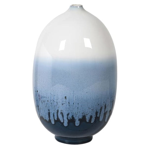 Small Shades of Blue Round Vase