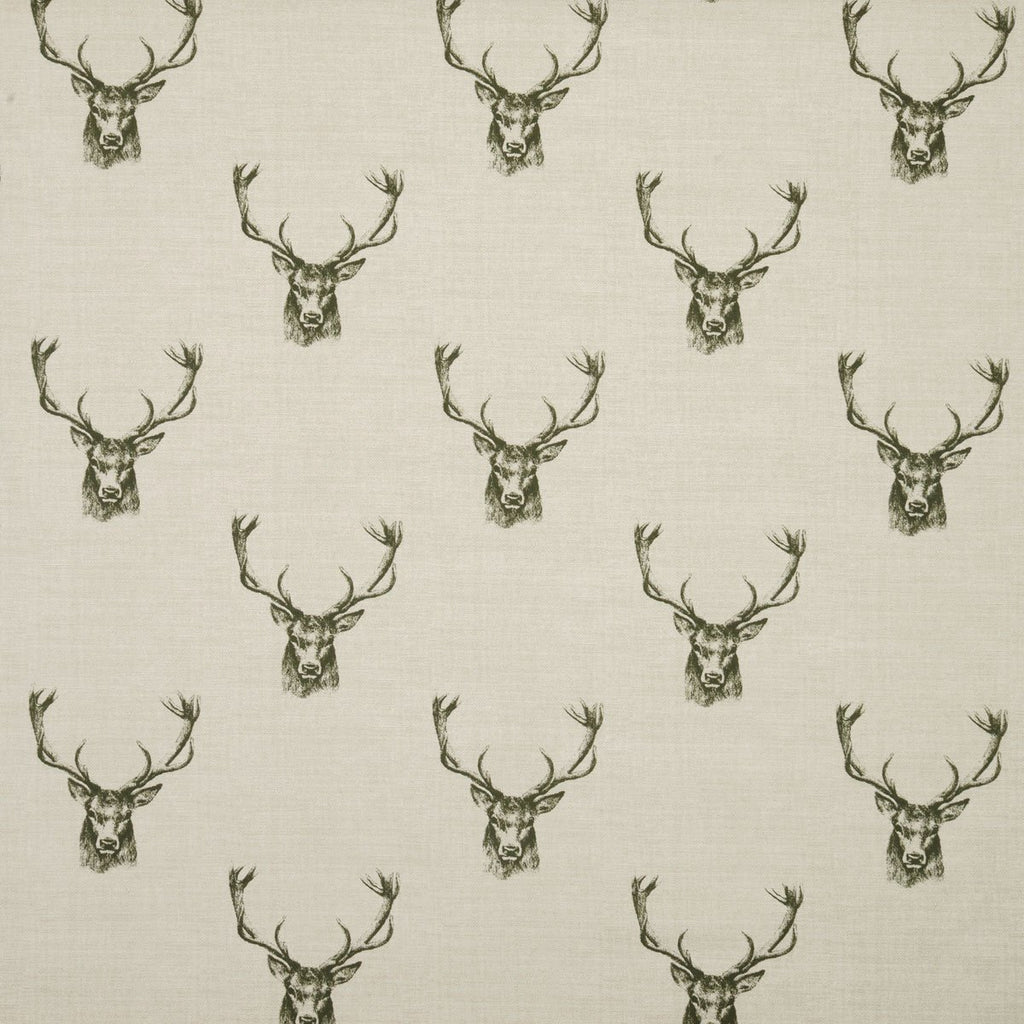 Stags Head Charcoal Curtains