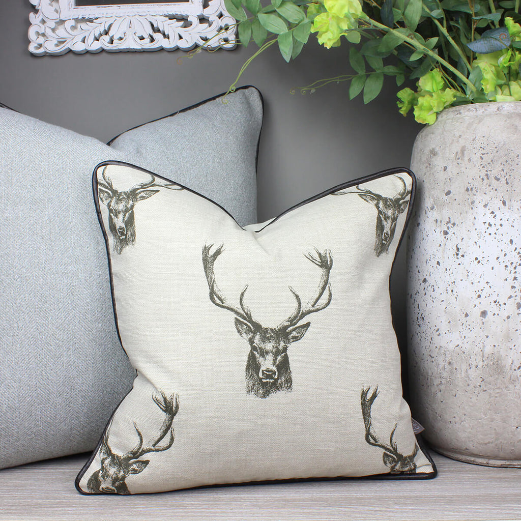 Stags Head Animal Cushion