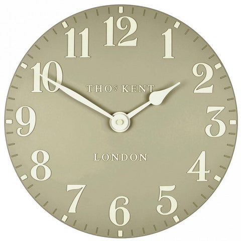 "Thomas Kent 12"" Arabic Stone Wall Clock"