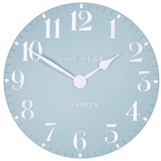"Thomas Kent 12"" Arabic Stonewash Blue Wall Clock"