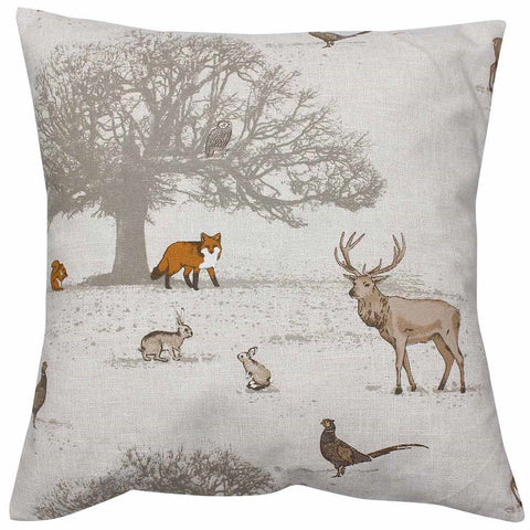 Tatton Woodland Animal Cushion Cover