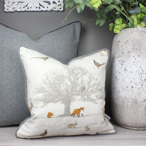Tatton Woodland Animal Cushion