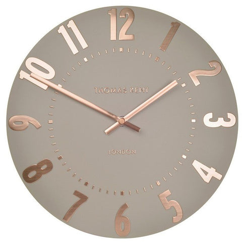 "Thomas Kent 12"" Mulberry Rose Gold Wall Clock"