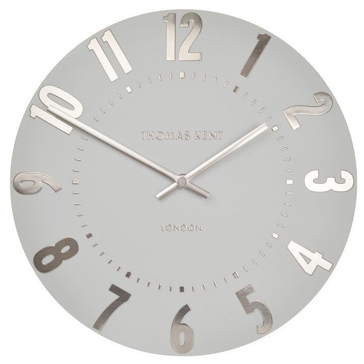 "Thomas Kent 12"" Mulberry Silver Cloud Wall Clock"