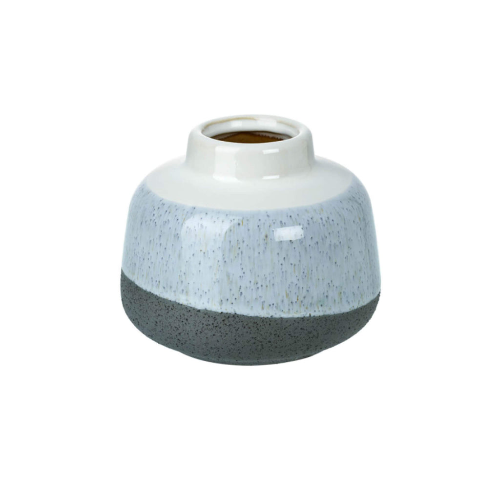 Small Ceramic Light Blue Vase