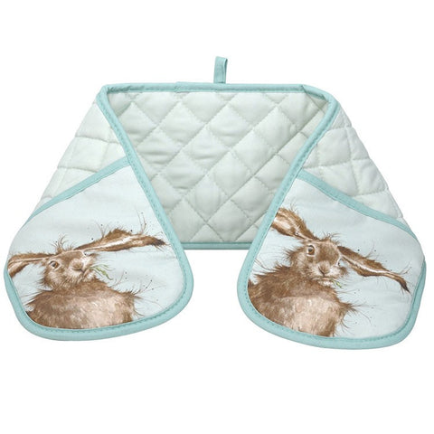 Hare Double Oven Glove - Wrendale Designs