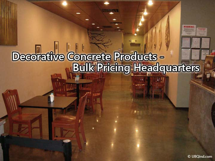 Become a distributor or buy at bulk discount store for decorative concrete products