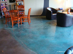 Sanibel concrete stain in commercial setting