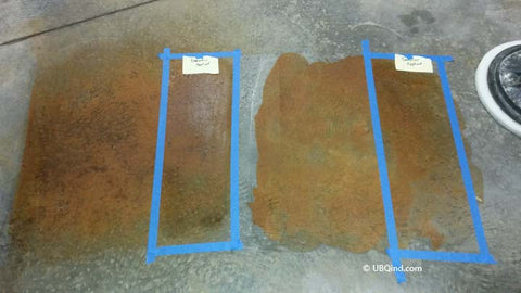 Sample Board with Concrete stain for color accuracy
