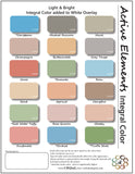 Concrete overlay and integral color sheet - Light & Bright