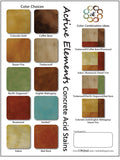Concrete acid stain color chart and sample designs