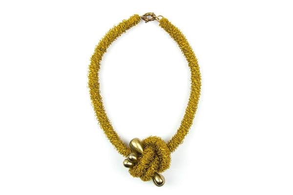 Kilig golden wire crochet necklace - criopia - 1