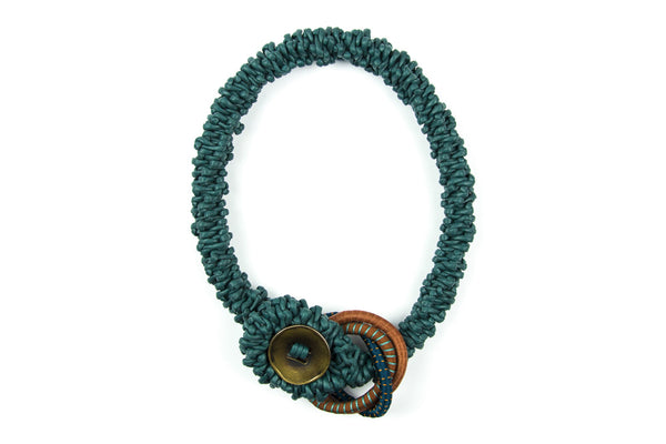 Lagom braided teal necklace - criopia - 1