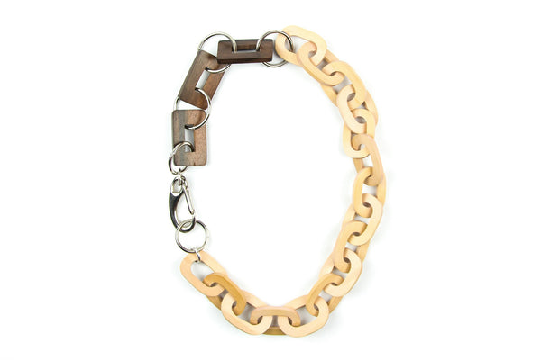 Oleka pale pink chain necklace - criopia