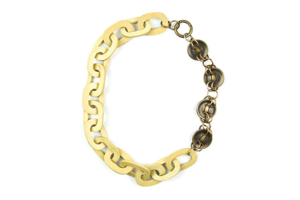 Oleka pale yellow chain necklace - criopia
