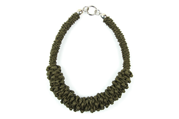 Sonder double braided khaki necklace - criopia - 1
