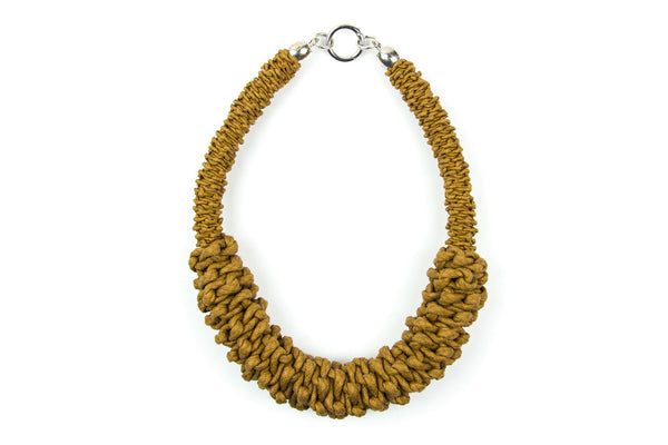 Sonder double braided ochre necklace - criopia