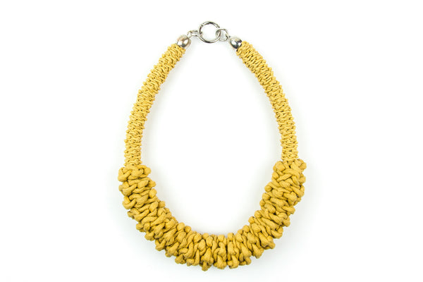 Sonder double braided yellow necklace - criopia