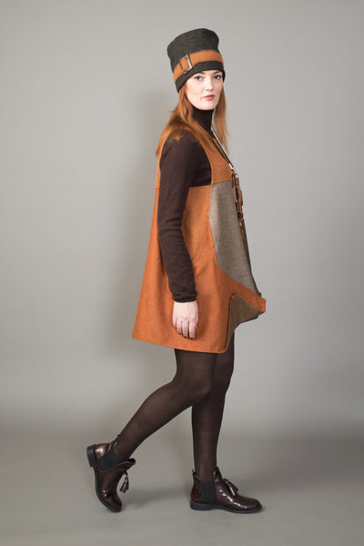 Variegated earth tones Lagenlook Tunic