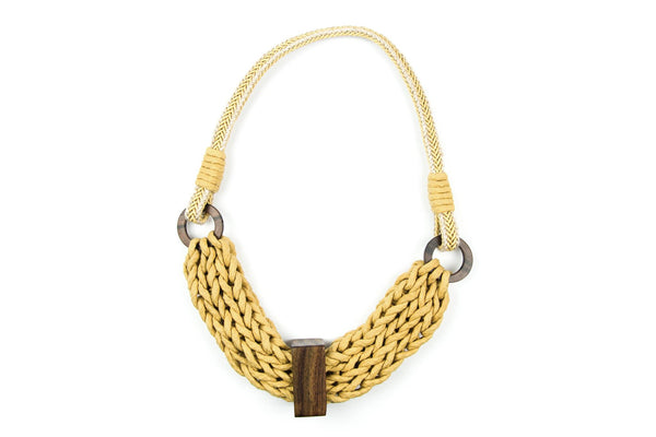 WabiSabi braided yellow necklace - criopia - 1