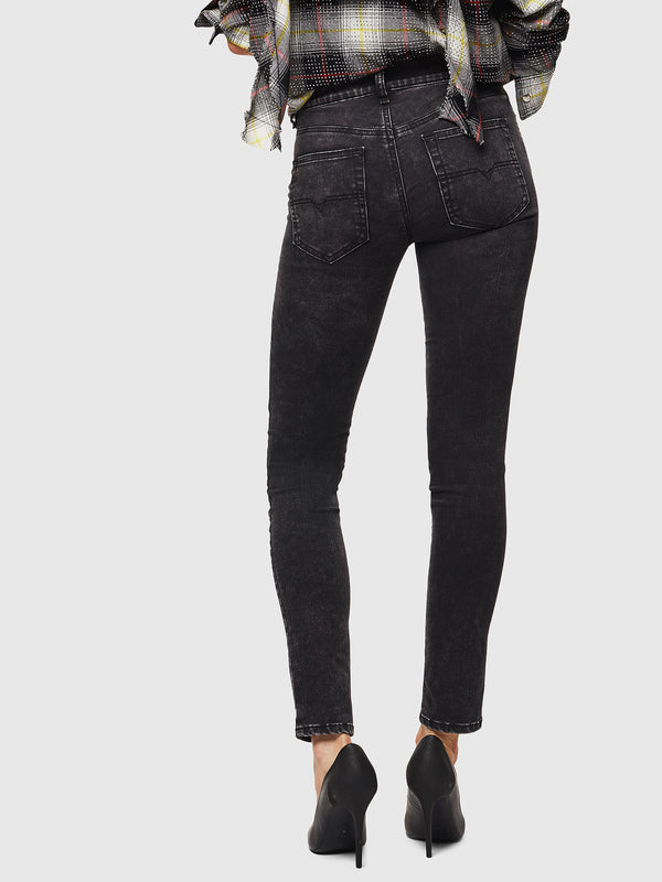 Womens D-Roisin 069FW Super Skinny Regular Waist Black