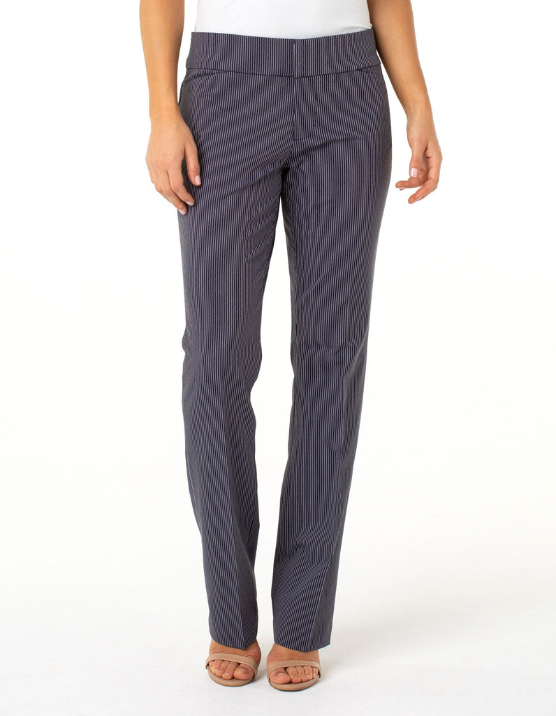Liverpool Women's Graham bootcut trouse pants navy ministripe