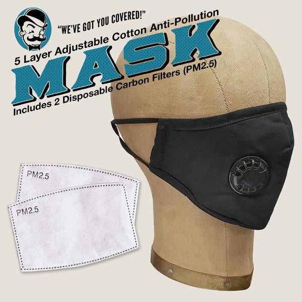 Mask 5 Layer Adjustable Cotton Anti-Pollution With Valve PPE