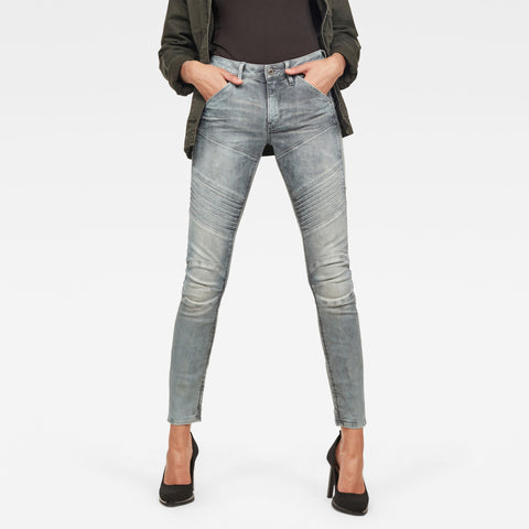 G-Star Woman's Denim LYNN MID SKINNY NEW  Light Aged Denim Superstretch