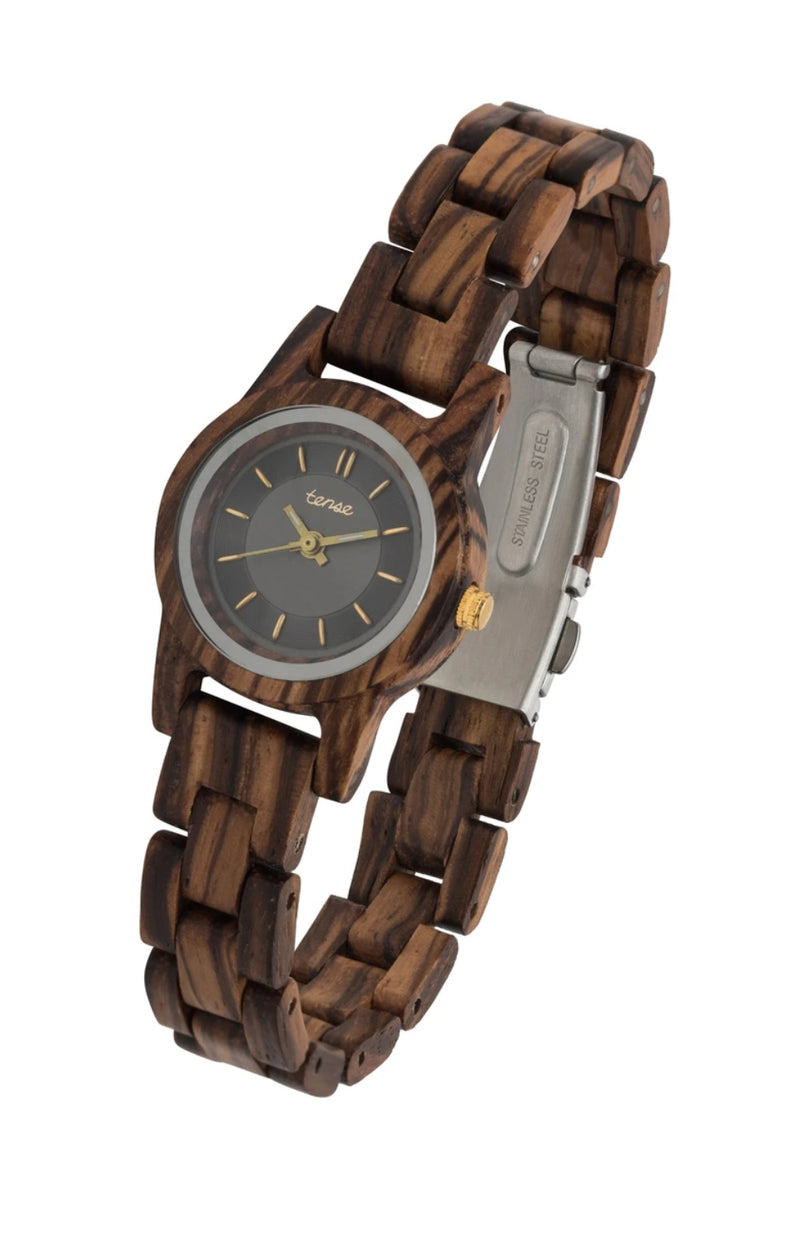 Women's mini Hampton 2 Zebrawood Wooden Watch
