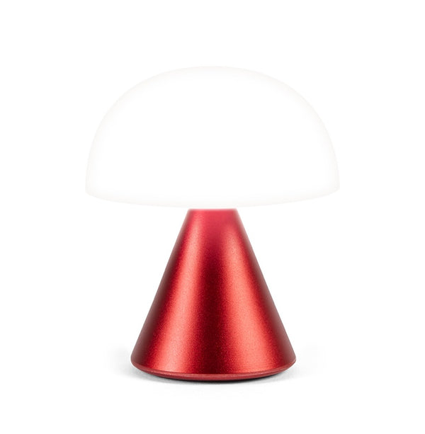 Lexon Mini LED Mina Red rechargeable Lamp cold or warm