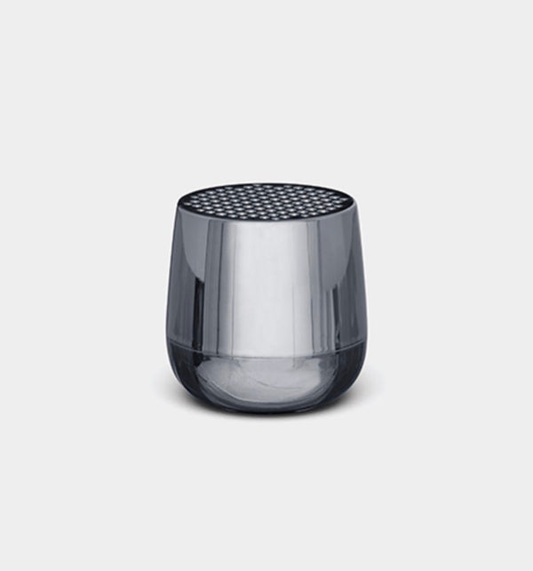 Lexon Design Mino + Wireless Rechargeable Bluetooth Portable Speaker Chrome