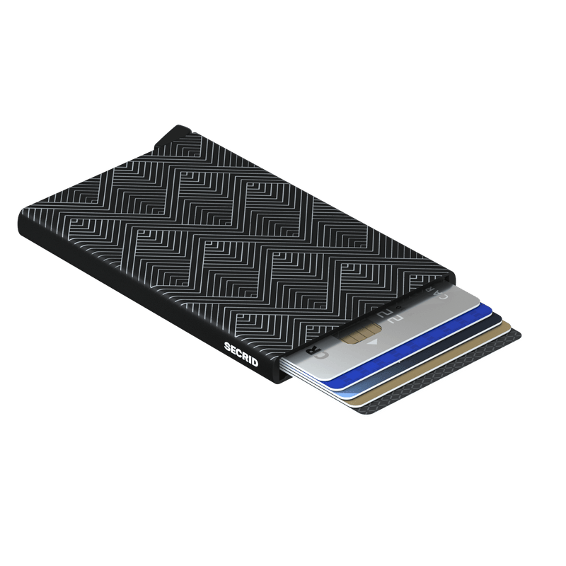 Card Protector-Laser Structure Black RFID Secure Wallet Authorized Dealer Cardprotector