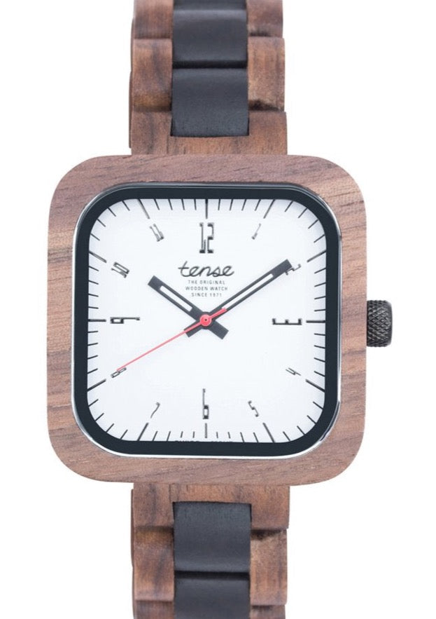 Tense Unisex Wooden Watch LABRADOR Walnut/Black Oak